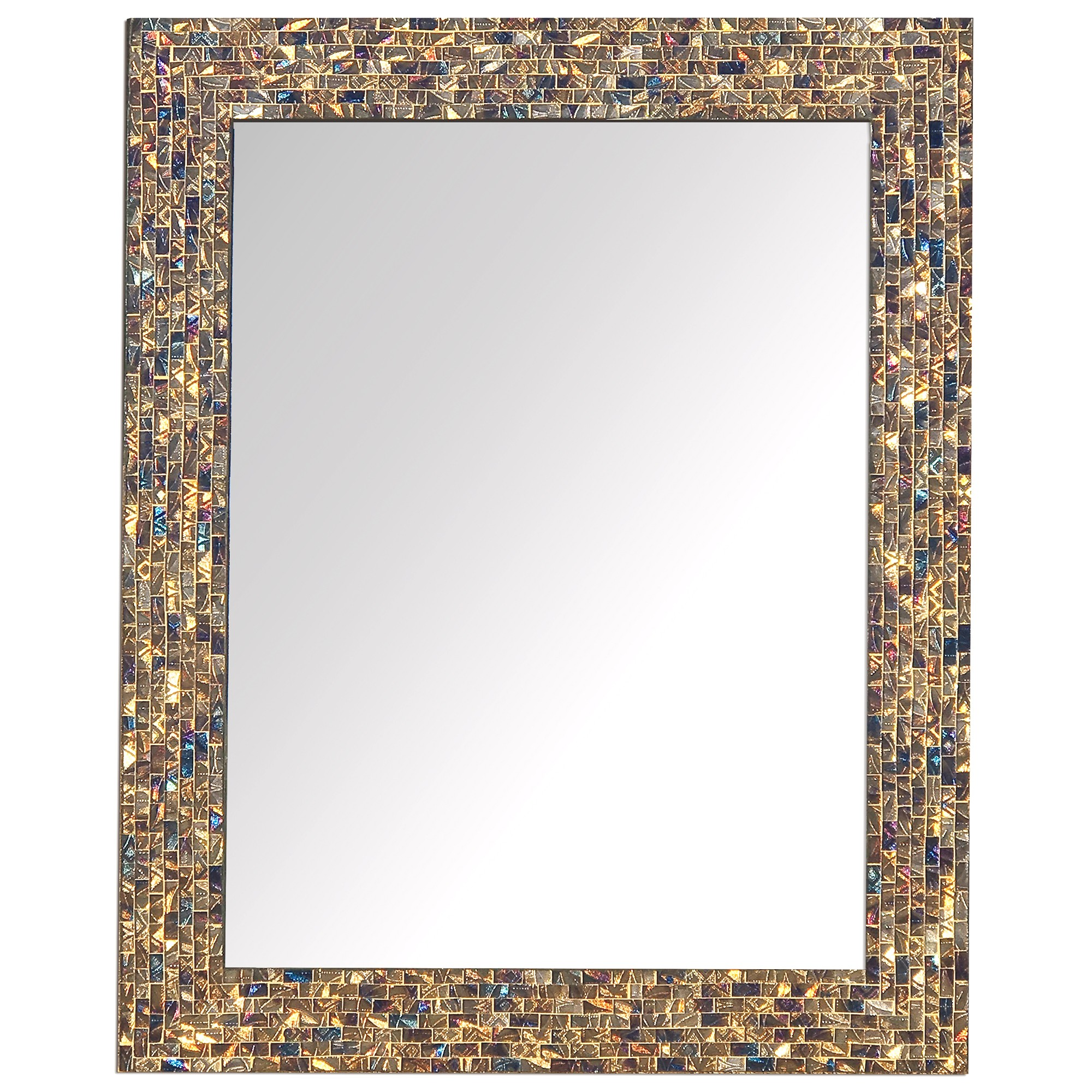 Buy 30 X24 Multi Colored And Gold Luxe Mosaic Glass Mirror Online Decorshore