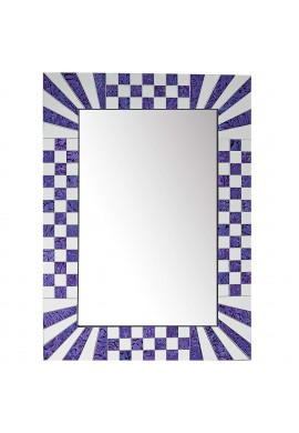 DecorShore South Beach Collection Purple Decorative Wall Mirrors with Colorful Glass Mosaic Tiles