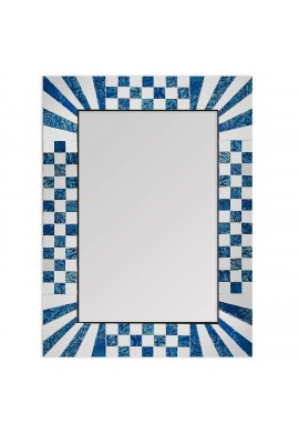 DecorShore South Beach Collection Decorative Wall Mirrors with Colorful Glass Mosaic Tiles