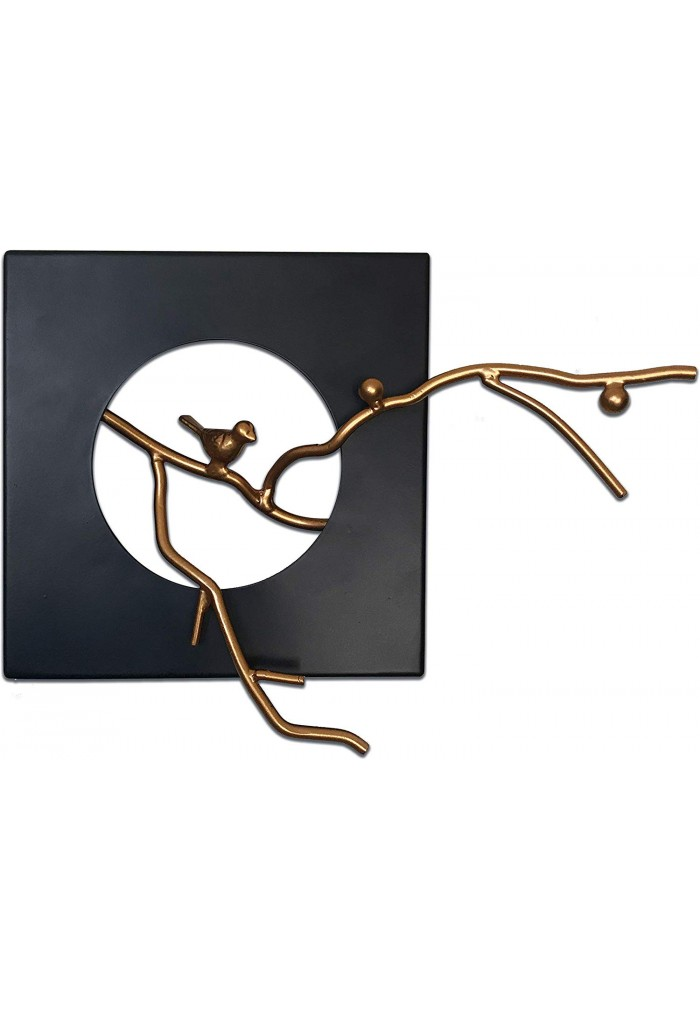 DecorShore Handcrafted Balanced Tranquility Decorative Metal Wall Sculpture, Metal Wall Decor - Abstract Art with Iron Frame