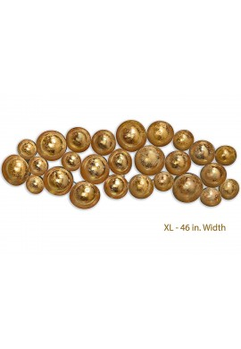 Antique Gold Abstract Metal Decorative Wall Art | Wall Decorations