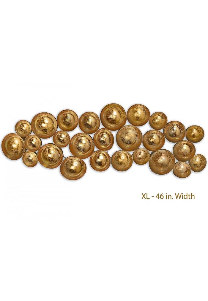 Gold Abstract Metal Wall Art
