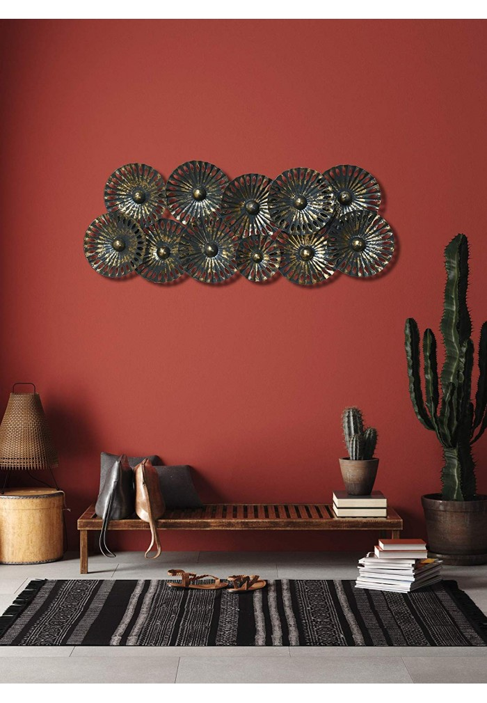 Decorshore Contemporary Extra Large Metal Wall Art In Gold Gray Abstract Metal Decorative Wall Art Decorshore