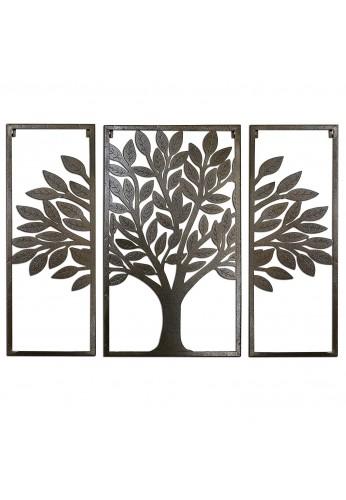 DecorShore Contemporary 32 inch Metal Wall Art, Tree of Life Metal Decorative Wall Art for Wall Decor