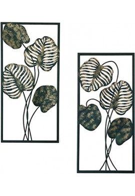 DecorShore Leaves Nature Metal Decorative Wall Art Set Of 2