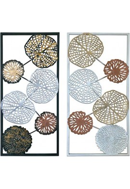 DecorShore Colorful Leaves Metal Wall Art Decorative Large Wall Decor Set Of 2