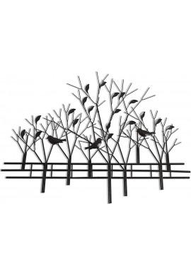 DecorShore Trees & Birds Metal Wall Art Sculpture, Contemporary Bronze 3D Metal Wire Sculpture Wall Decor Art for Home Office