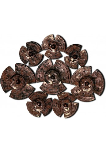 DecorShore Bronze Copper Large Decorative Wall Art & Contemporary Metal Wall Art Set For Wall Decor