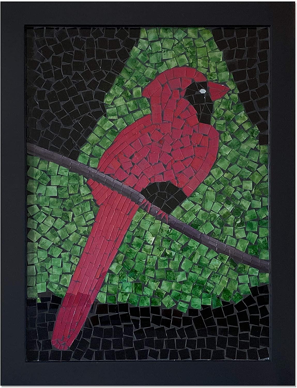 Large Framed Artwork Bird Tree Glass Mosaic Decorative Wall Art For Home Decor Living Room Decorshore