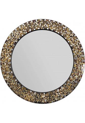 "DecorShore 24"" Decorative Mosaic Glass Wall Mirror (Golden Sands)"
