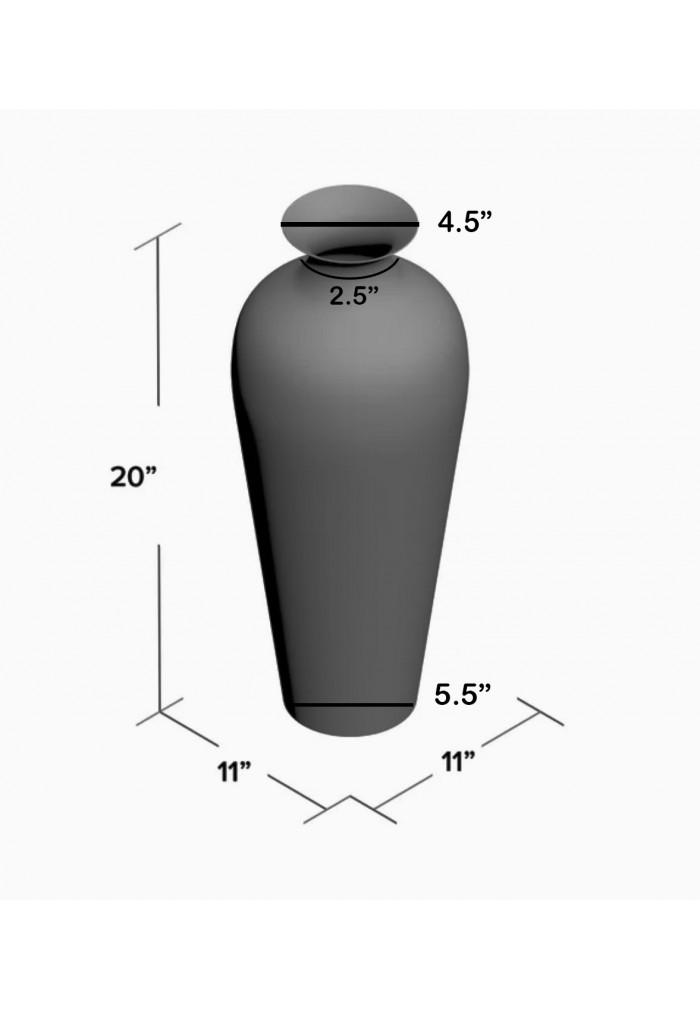 "DecorShore 20"" Amphora Nouveau Vase, Metal Floor Vase with Decorative Glass Mosaic Overlay (Chocolate Pearl Ombre)"