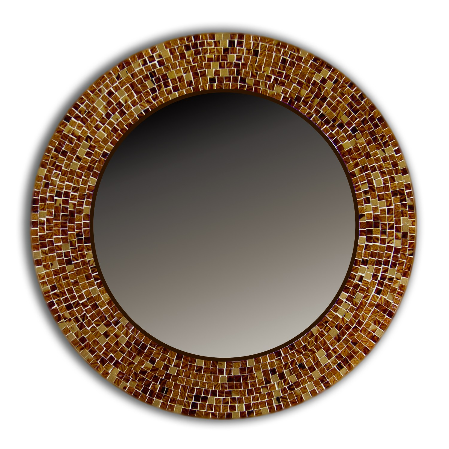 Buy decorshore brown traditional mosaic mirror online for Mosaic mirror