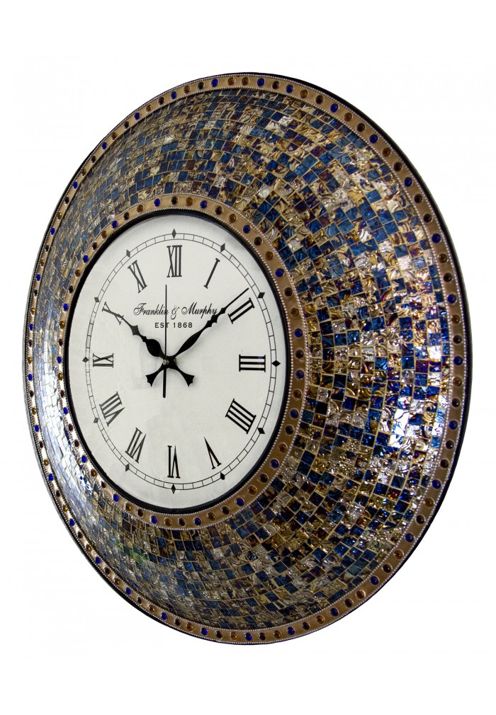 buy 22 5 fired gold handmade glass mosaic wall clock online