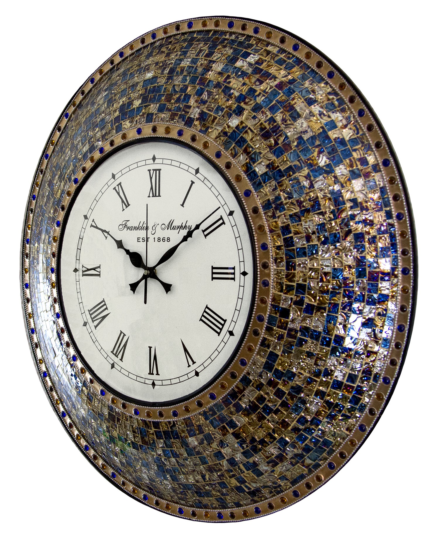 Buy 225 fired gold handmade glass mosaic wall clock online buy 225 fired gold handmade glass mosaic wall clock online decorshore amipublicfo Gallery