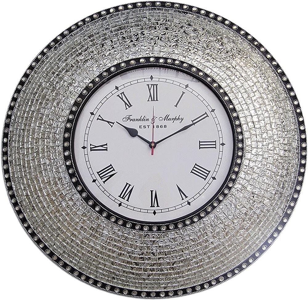 Buy 225 Silver Handmade Glass Mosaic Wall Clock Online Decorshore