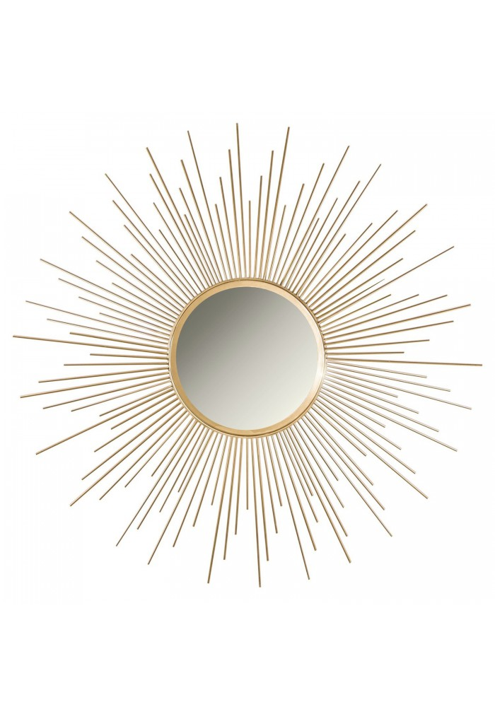 Buy 36 Gold Sunburst Circular Metal Wall Mirror Online