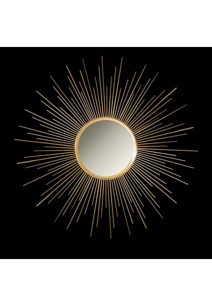 Décor Shore Iron metal Sun Burst Mirror in Gold color