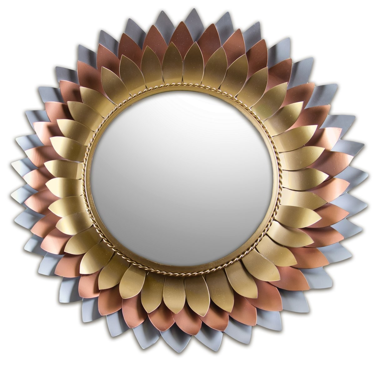 Buy 33 multilayered sunflower metal sunburst mirror online buy 33 multilayered sunflower metal sunburst mirror online decorshore amipublicfo Choice Image