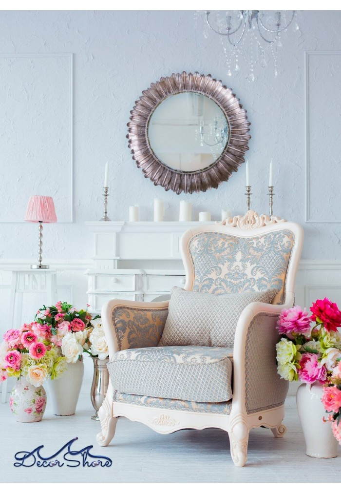Buy 36 vintage style flower metal sunburst mirror online - Vintage inspired wall art ...