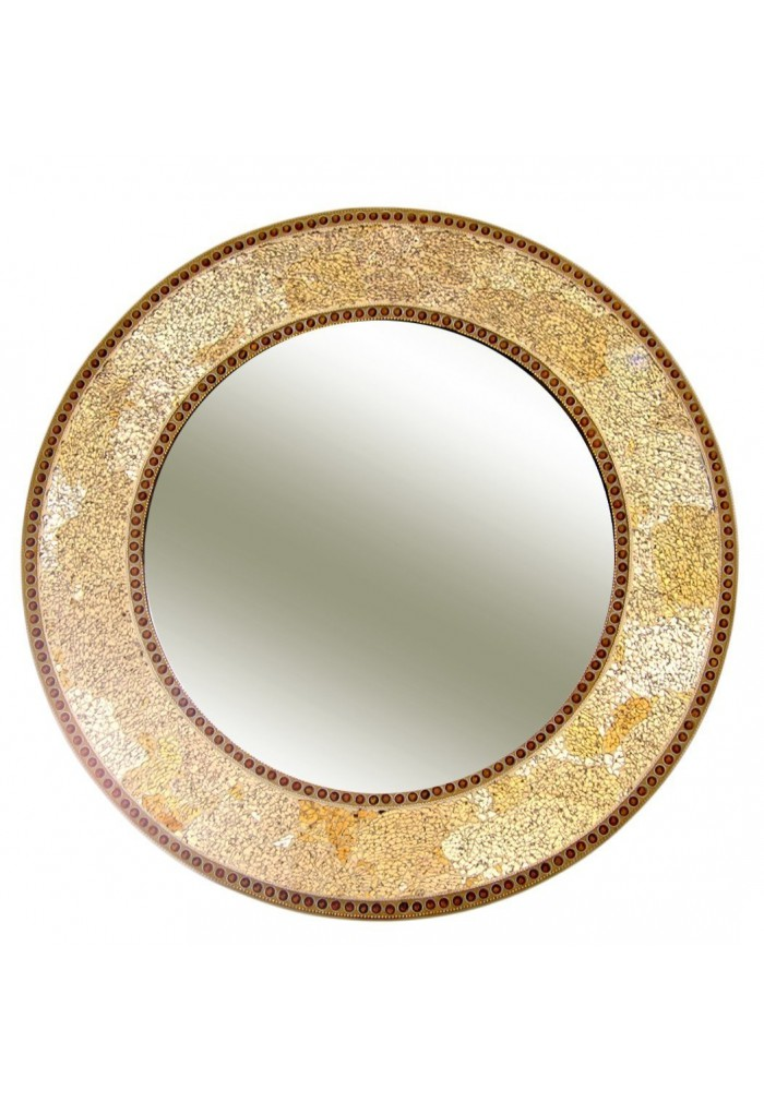 Buy 24 gold round crackled glass mosaic decorative wall Round decorative wall mirrors