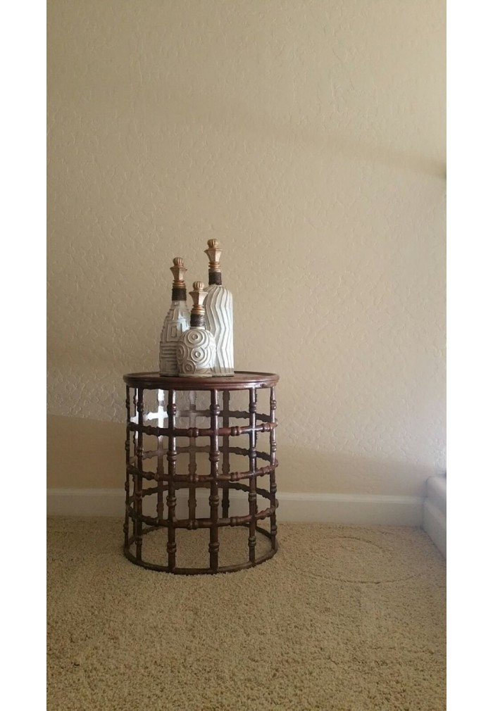 Buy Aluminum Metal Knobbed Accent Table, Side/End Table