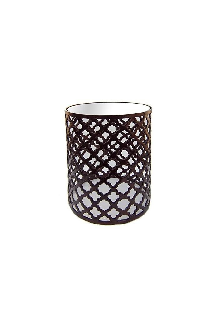 Décor Shore Aluminium metal strip stool in Bronze Color ...  sc 1 st  Decorshore & Buy DecorShore Aluminum Bronze Lattice Accent Table Online ... islam-shia.org