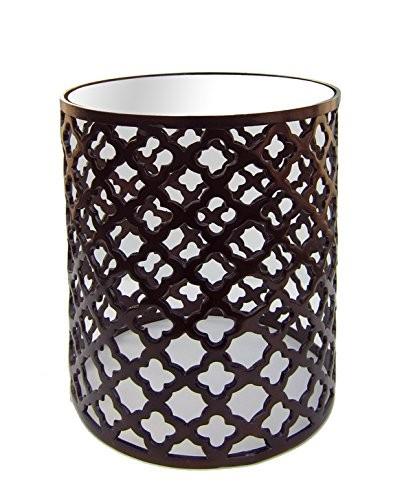 Good Buy DecorShore Aluminum Bronze Lattice Accent Table Online U2013 DecorShore