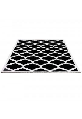 DecorShore Aroa Cupola Collection, Contemporary Area Rug, Hand Tufted, 100% Wool, Handmade Moroccan Trellis Design, Thick Plush Pile, Black