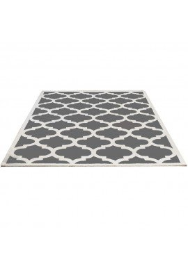 DecorShore Aroa Cupola Collection, Contemporary Area Rug, Hand Tufted, 100% Wool, Handmade Moroccan Trellis Design, Thick Plush Pile, Silver