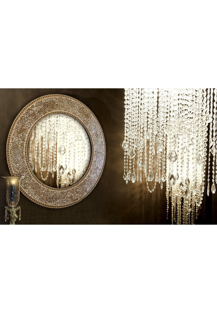 Gilded Round Wall Decor : Buy quot gold round crackled glass mosaic decorative wall