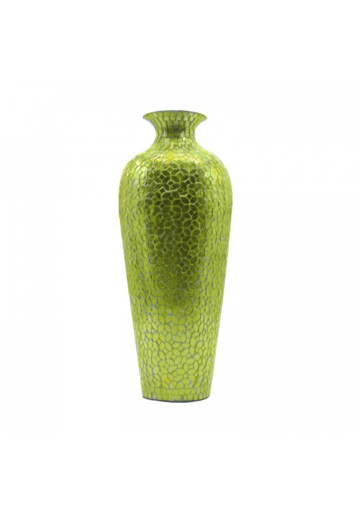 Buy 20 Vedic Vase Sparkling Metal Green Vase Glass Mosaic Inlay