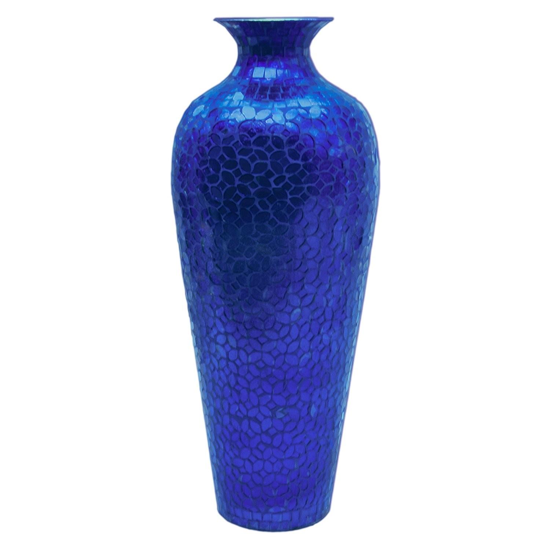 Buy 20 vedic vase sparkling metal blue vase glass mosaic inlay buy 20 vedic vase sparkling metal blue vase glass mosaic inlay decorshore reviewsmspy