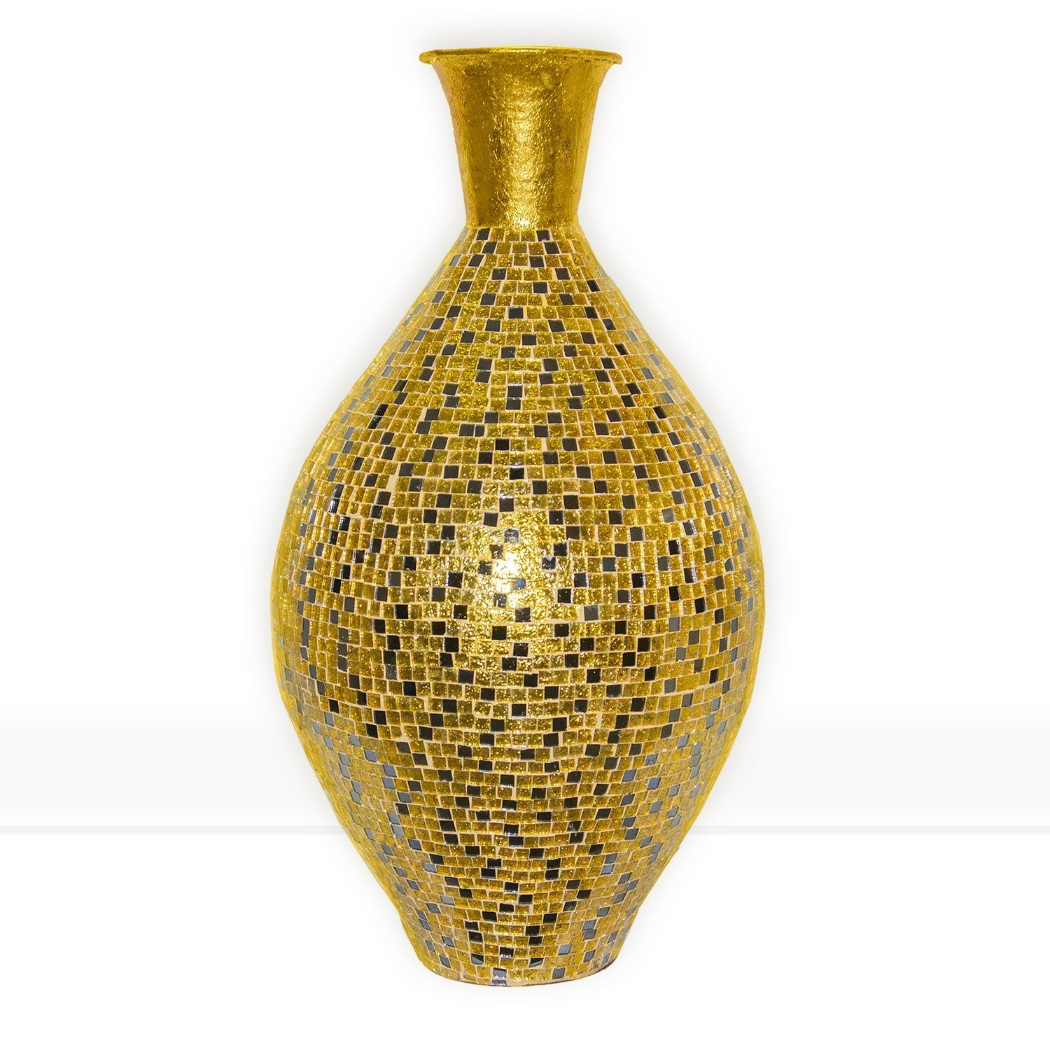 Metal floor vase gallery vases design picture buy 30 seketa regent gold surahi jug vase glass mosaic metal buy 30 seketa regent gold reviewsmspy