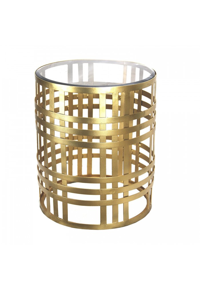 Ds Gilded Cage End Table 19 Iron Gl Top Accent Round