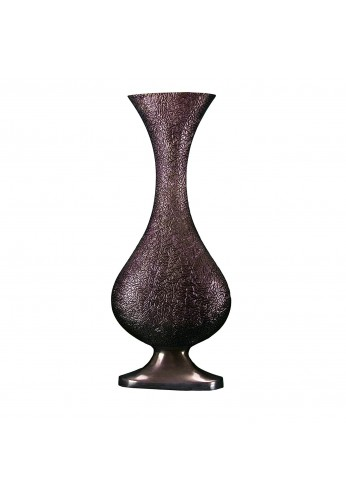 "DecorShore Baroque Old World Bronze Pedestal Vase, 20"" Metal Pedestal Decorative Antique Look Accent Vase in Antique Bronze Finish"