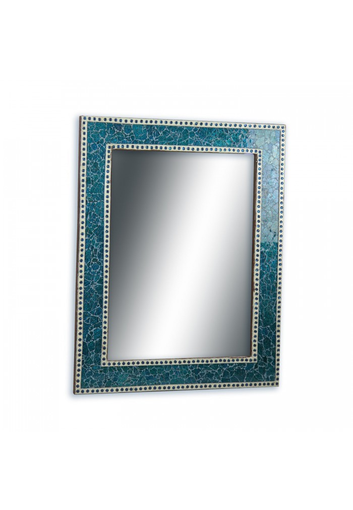 Crackled Glass Decorative Wall Mirror Mosaic Glass Wall