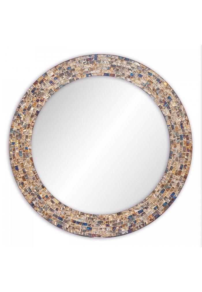 "DecorShore 24"" Decorative Mosaic Glass Wall Mirror - Gold"