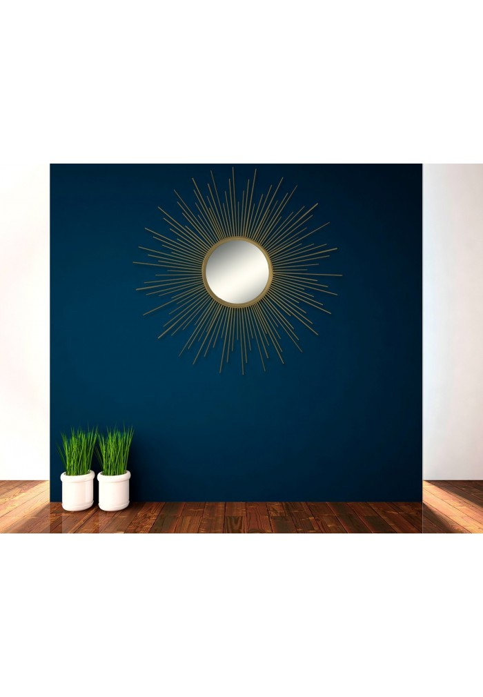 Buy 36 Gold Sunburst Circular Metal Wall Mirror Online Decorshore