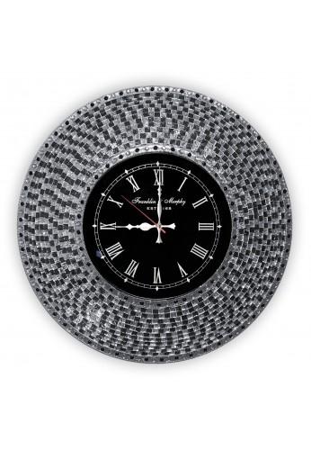 decorshore decorative mosaic wall clock 225 silent motion wall clock in decorative embossed metallic
