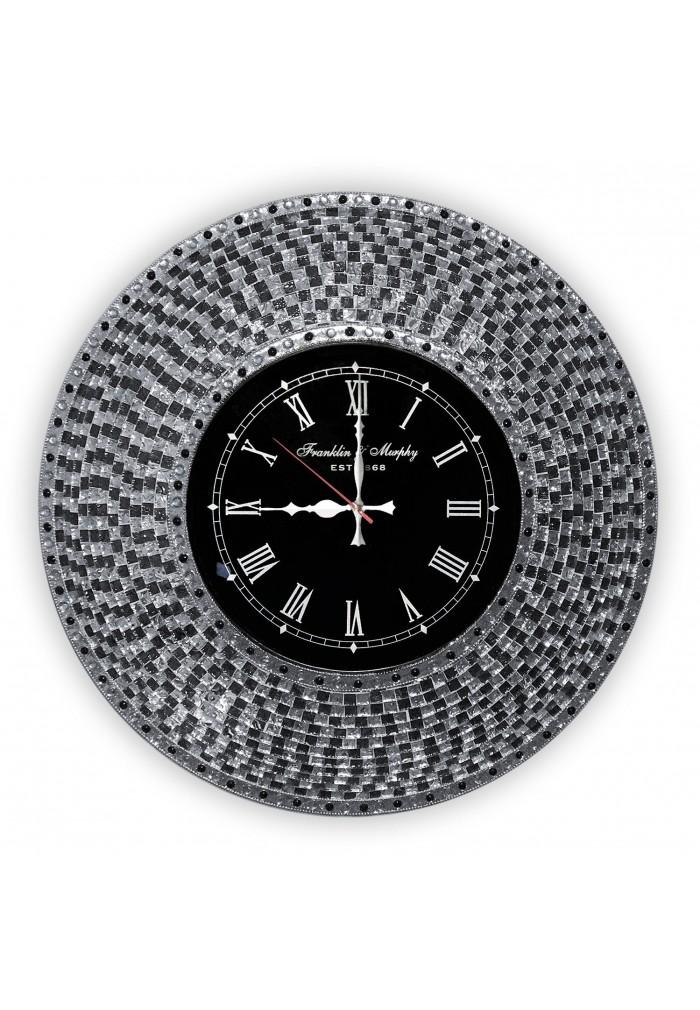 "DecorShore Decorative Mosaic Wall Clock, 22.5"" Silent Motion Wall Clock"