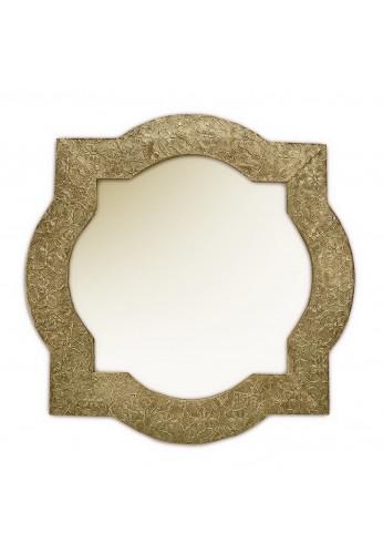 DecorShore Frontiers Collection Decor Accents - Santa Catalina, Brass Quatrefoil - Metal Vintage Decorative Wall Mirror
