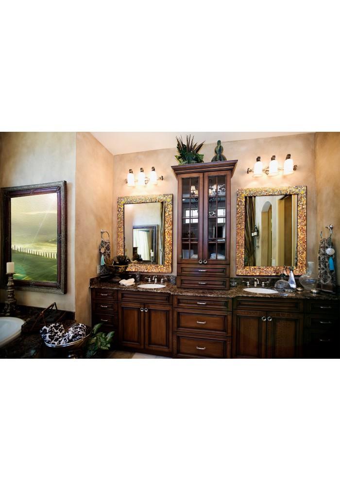 Glass Mosaic Framed Decorative Wall Mirror