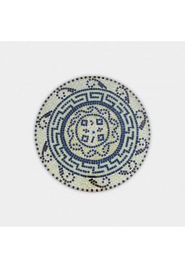 Décor Shore sapphire tone Iron decorative wall clock