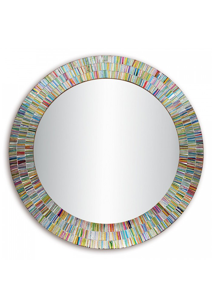 Bohemian Rainbow Rhapsody -Glass Mosaic Decorative Wall Mirror