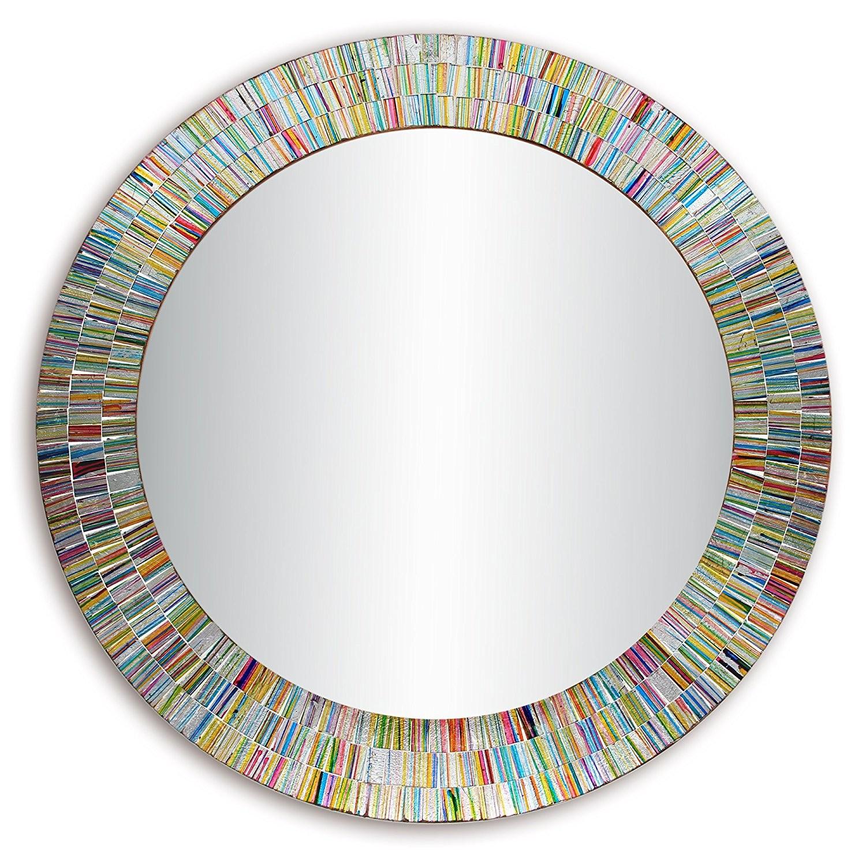 Bohemian Rainbow Rhapsody Glass Mosaic Decorative Wall
