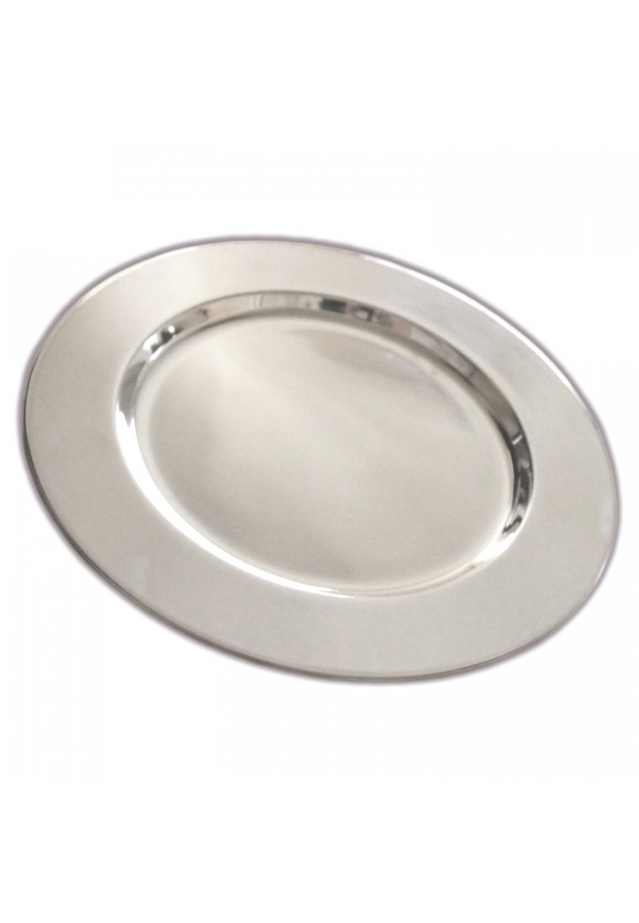 "Set of 4 Stainless Steel Charger Plates - Handmade 12"" Service Plates, Accent Plates, Decorative & Hors d'oeuvre Tray"