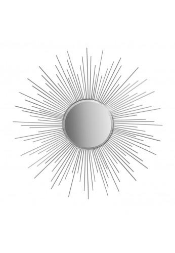 """Decorshore 36"""" Silver Sunburst Circular Mirror, Metal Mirror, Decorative Wall Mirror"""