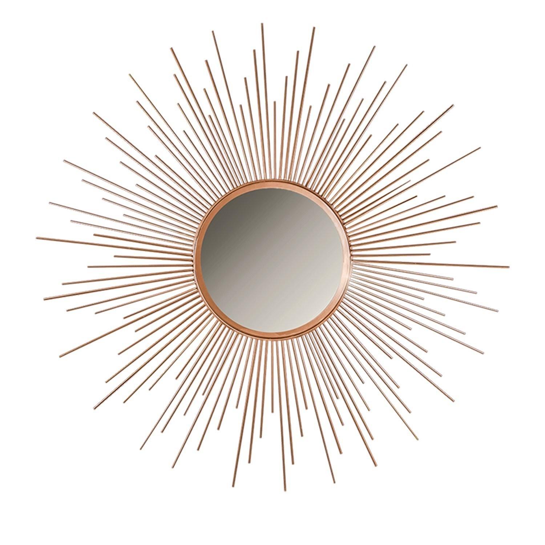Buy 36 Copper Sunburst Circular Metal Wall Mirror Online Decorshore