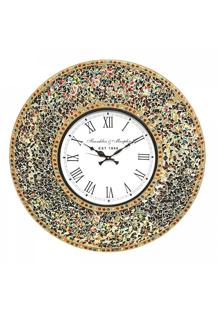 DecorShore Decorative Gemstone Rainbow Wall Clock