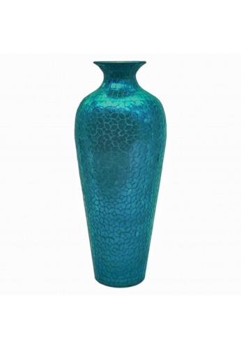 Decorshore Andalusian Sparkling Metal With Moorish Floral Vase 20